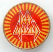 Def Leppard - 'Logo Red and Yellow' Prismatic Crystal Badge